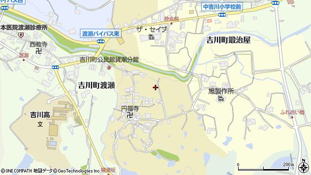 〒673-1118 兵庫県三木市吉川町貸潮の地図