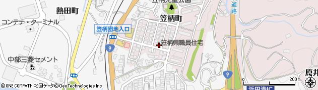 島根県浜田市笠柄町周辺の地図