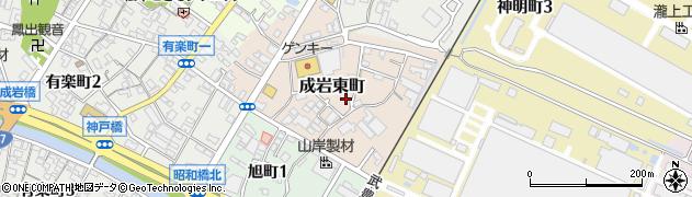 愛知県半田市成岩東町周辺の地図