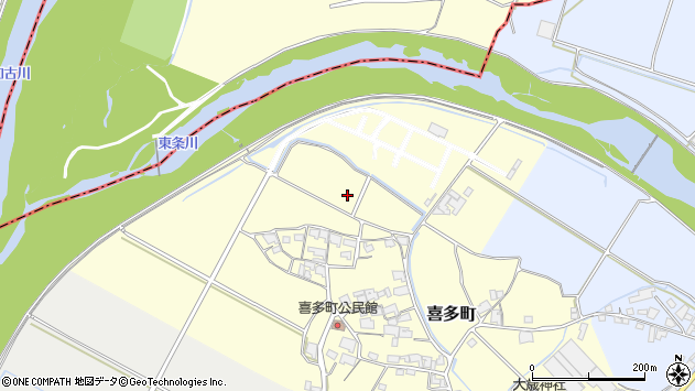 〒675-1360 兵庫県小野市喜多町の地図