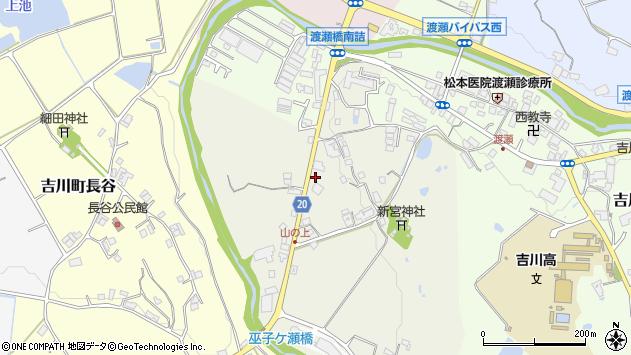 〒673-1128 兵庫県三木市吉川町山上の地図