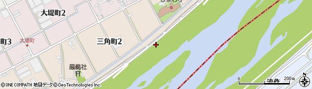 愛知県碧南市三角町周辺の地図