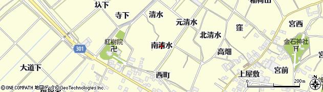 愛知県西尾市上町(南清水)周辺の地図