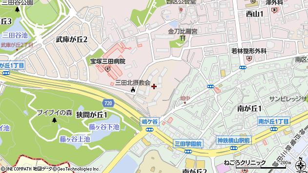 〒669-1544 兵庫県三田市武庫が丘の地図