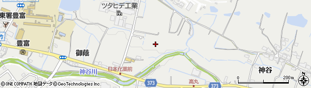 兵庫県姫路市豊富町周辺の地図