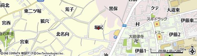愛知県西尾市上町(堀尻)周辺の地図