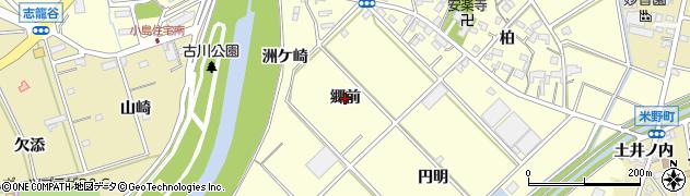 愛知県西尾市小島町(郷前)周辺の地図