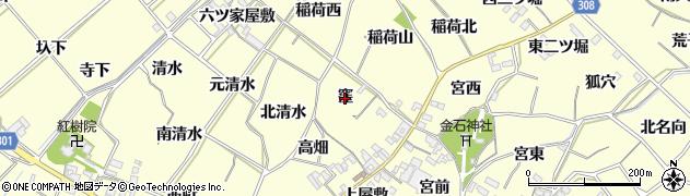 愛知県西尾市上町(窪)周辺の地図