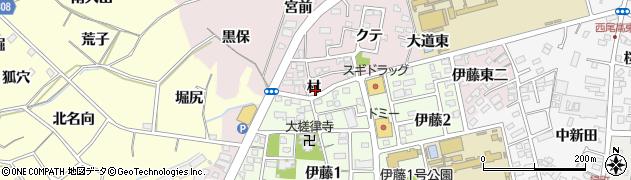 愛知県西尾市伊藤町(村)周辺の地図