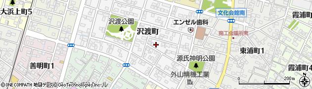 愛知県碧南市沢渡町周辺の地図