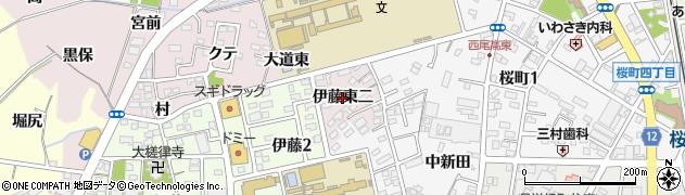 愛知県西尾市伊藤町(伊藤東二)周辺の地図