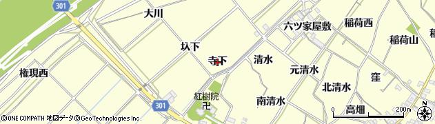 愛知県西尾市上町(寺下)周辺の地図