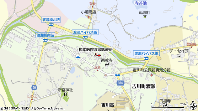 〒673-1129 兵庫県三木市吉川町渡瀬の地図