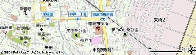 三重県鈴鹿市周辺の地図
