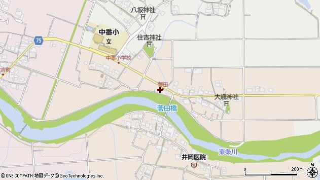 〒675-1307 兵庫県小野市菅田町の地図