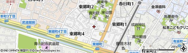 愛知県半田市東郷町周辺の地図