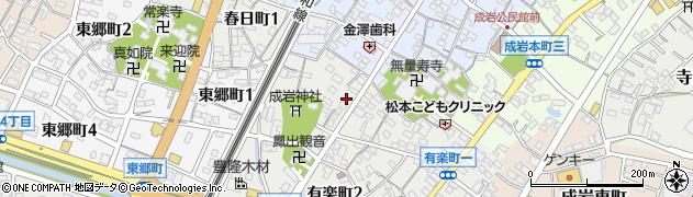 夜桜周辺の地図