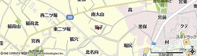 愛知県西尾市上町(荒子)周辺の地図