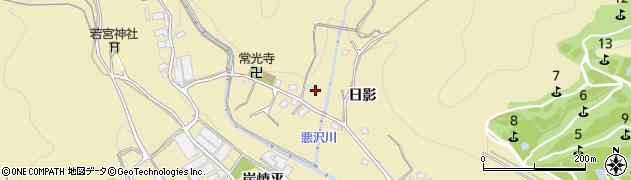 愛知県豊川市東上町(日影)周辺の地図