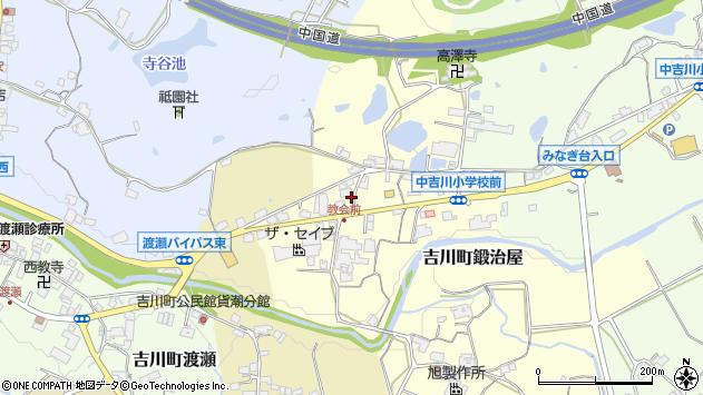 〒673-1119 兵庫県三木市吉川町鍛治屋の地図