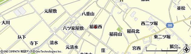 愛知県西尾市上町(稲荷西)周辺の地図