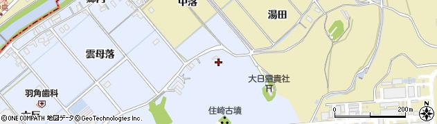 愛知県西尾市下羽角町(前山)周辺の地図
