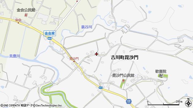 〒673-1233 兵庫県三木市吉川町毘沙門の地図