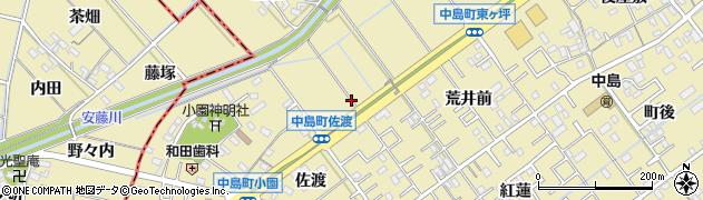 愛知県岡崎市中島町(瓢覃)周辺の地図