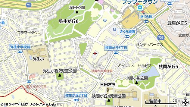 〒669-1546 兵庫県三田市弥生が丘の地図
