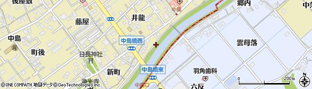 愛知県岡崎市中島町(上町下ノ切)周辺の地図