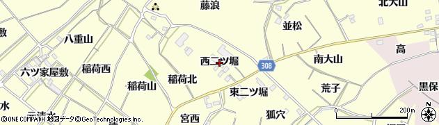 愛知県西尾市上町(西二ツ堀)周辺の地図