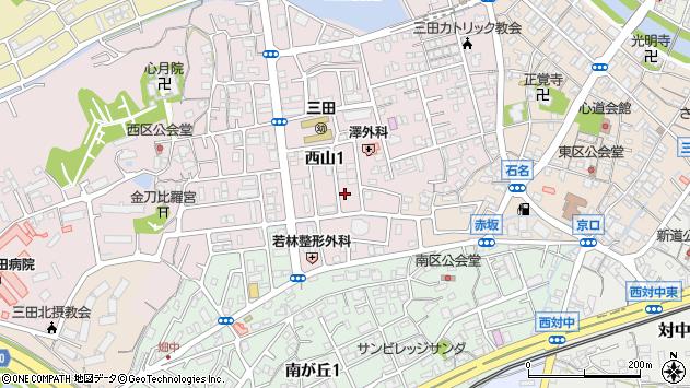 〒669-1537 兵庫県三田市西山の地図