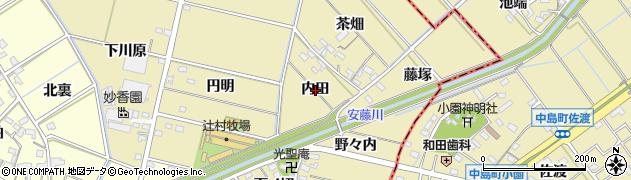 愛知県西尾市米野町(内田)周辺の地図