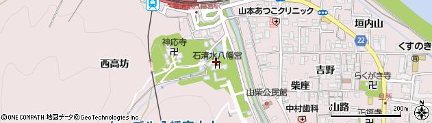 石清水八幡宮頓宮周辺の地図