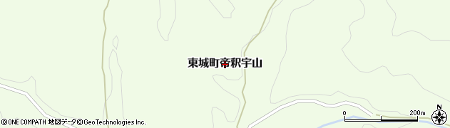 広島県庄原市東城町帝釈宇山周辺の地図