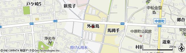 愛知県西尾市八ツ面町(外夜島)周辺の地図