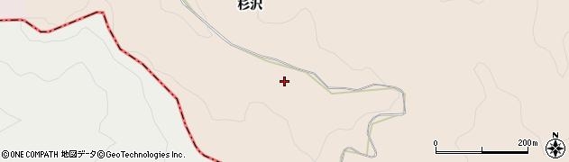 愛知県岡崎市上衣文町(杉沢)周辺の地図