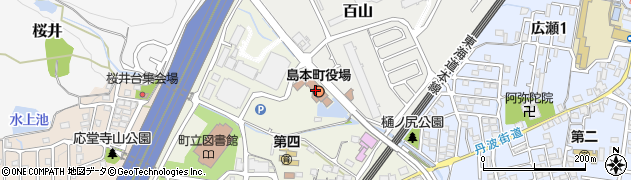 大阪府島本町(三島郡)周辺の地図