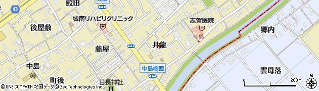 愛知県岡崎市中島町(井龍)周辺の地図