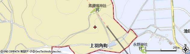 愛知県西尾市上羽角町(馬頭)周辺の地図
