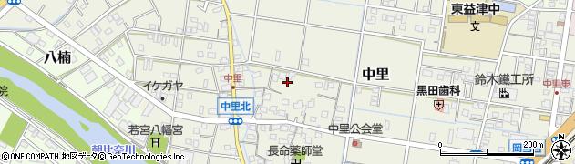 静岡県焼津市中里周辺の地図