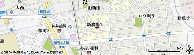愛知県西尾市新渡場周辺の地図