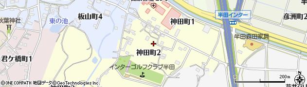愛知県半田市神田町周辺の地図