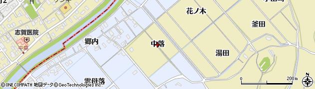 愛知県西尾市上羽角町(中落)周辺の地図