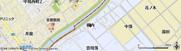 愛知県西尾市下羽角町(郷内)周辺の地図