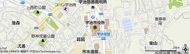 京都府宇治市周辺の地図