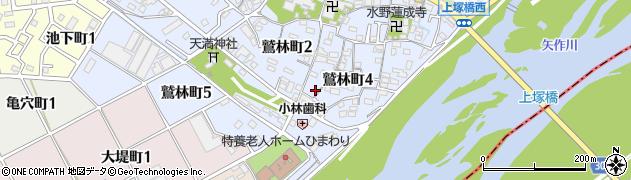 愛知県碧南市鷲林町周辺の地図
