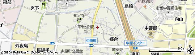 愛知県西尾市中原町(新田)周辺の地図