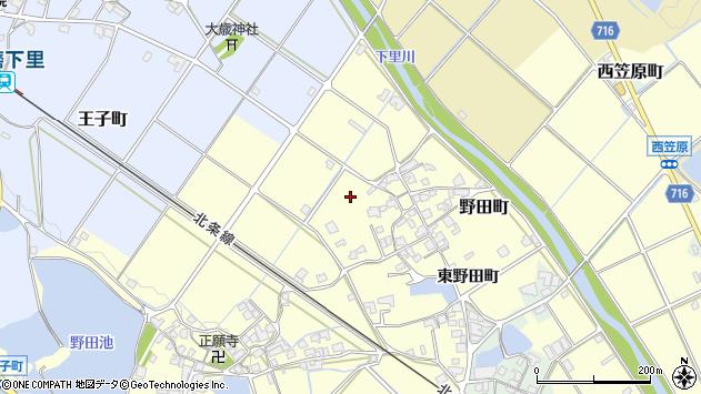 〒675-2211 兵庫県加西市野田町の地図