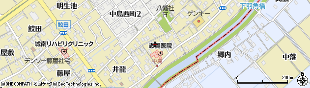 愛知県岡崎市中島町(薬師)周辺の地図